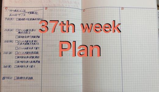 第37週目の目標を達成させるためのPlan(計画)